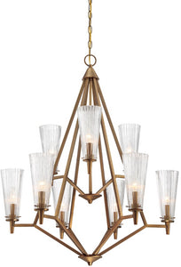 Designers Fountain Montelena 9-Light Chandelier Old Satin Brass 88989-OSB