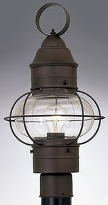 "19""h Nantucket Outdoor Onion Post Lantern Rustique"