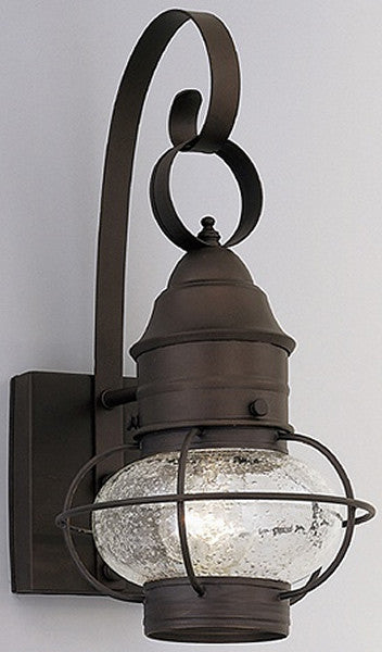 "18""h Nantucket Outdoor Onion Wall Lantern Rustique"