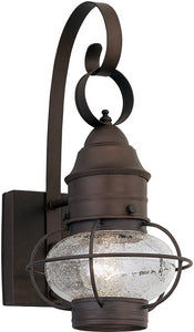Designers Fountain 7 inchw Nantucket 1-Light Wall Lantern Rustique 1751RT