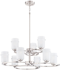 Designers Fountain Omega 9-Light Chandelier Satin Platinum 86689-SP