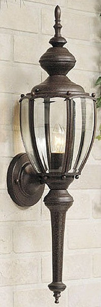 "25""h Outdoor Wall Lantern Rust Patina"