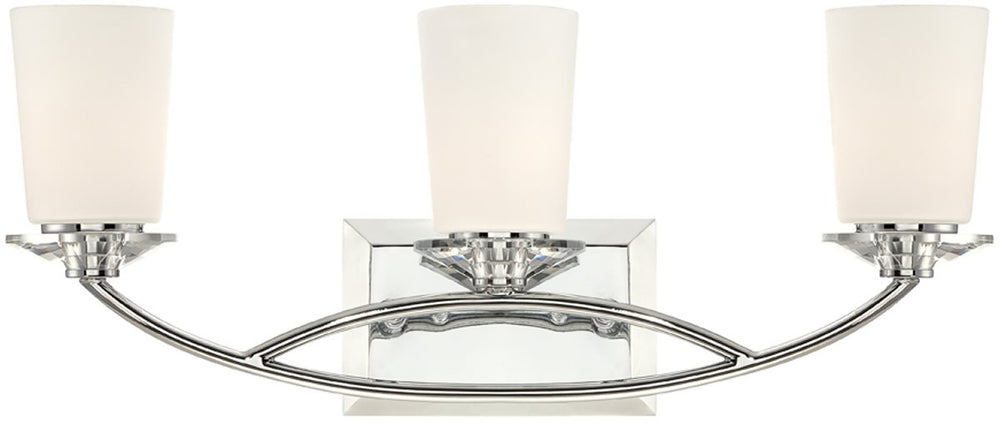 "23""W Palatial 3-Light Bath Vanity Chrome"