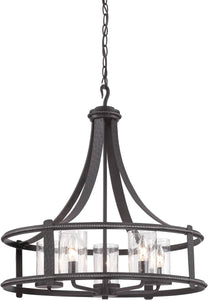 Designers Fountain 24 inchw Palencia 5-Light Chandelier Artisan Pardo Wash 87585APW