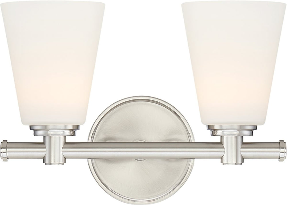 "12""W Parker 2-Light Bath Vanity Satin Platinum"