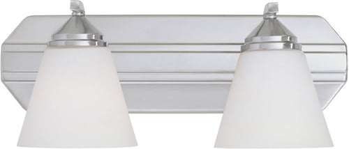 Designers Fountain Piazza 2-Light Vanity Satin Platinum 6602SP