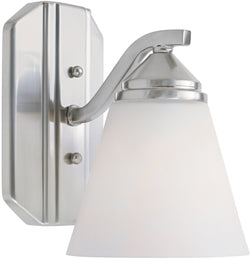 Piazza 1-Light Wall Sconce Satin Platinum