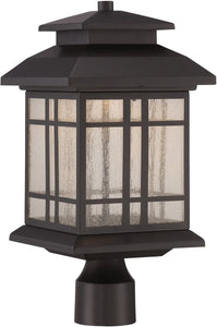 Designers Fountain 16 inchw PiedmontPost Lantern Oil Rubbed Bronze LED33436ORB