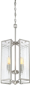 Pivot 4-Light Chandelier Satin Platinum