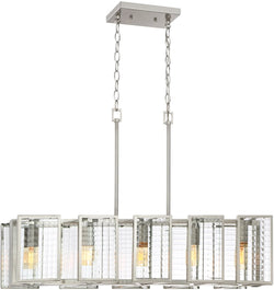 Pivot 5-Light Pendant Satin Platinum