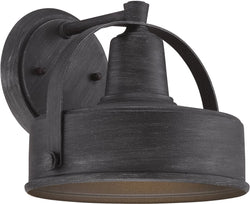 Designers Fountain 7 inchw Portland-DS 1-Light Wall Lantern Weathered Pewter 33121WP