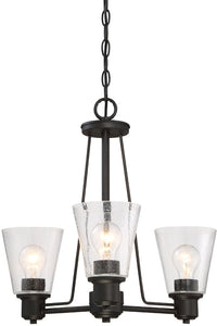 Printers Row 3-Light Chandelier Oil Rubbed Bronze