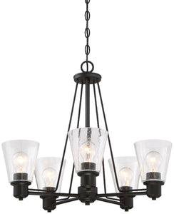 Designers Fountain Printers Row 5-Light Chandelier Oil Rubbed Bronze 88085-ORB