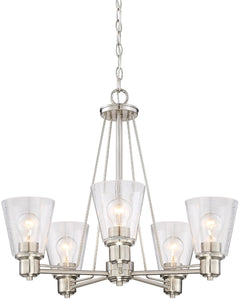 Designers Fountain Printers Row 5-Light Chandelier Satin Platinum 88085-SP