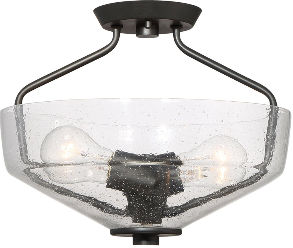 "13""W Printers Row -Light Semi Flush Mount Oil Rubbed Bronze"