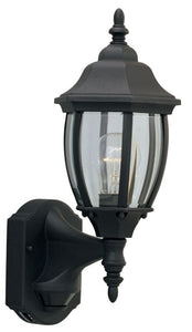 "16""h Motion Detection Outdoor Security Wall Lantern Black"
