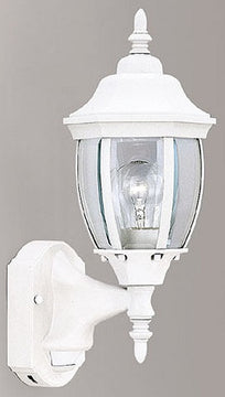"16""H Motion Detection Outdoor Security Wall Lantern White"