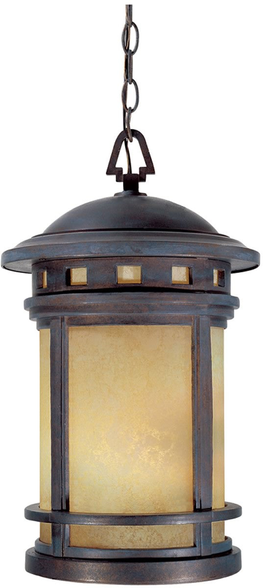 "11""W Sedona 3-Light Outdoor Pendant Mediterranean Patina"