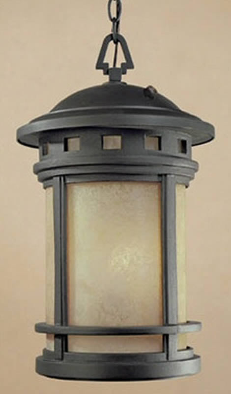"11""w Sedona 1-Light Hanging Outdoor Lantern Oil Rubbed Bronze"