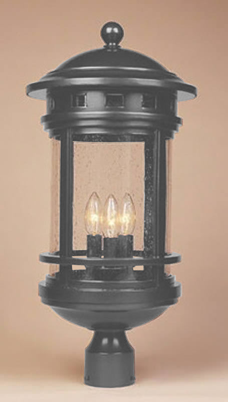 "23""h Sedona 3-Light Outdoor Post Light Oil Rubbed Bronze"