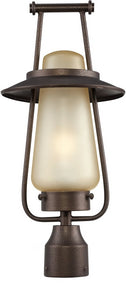 Designers Fountain 20 inchw Stonyridge 1-Light Post Lantern Flemish Bronze FL32036FBZ