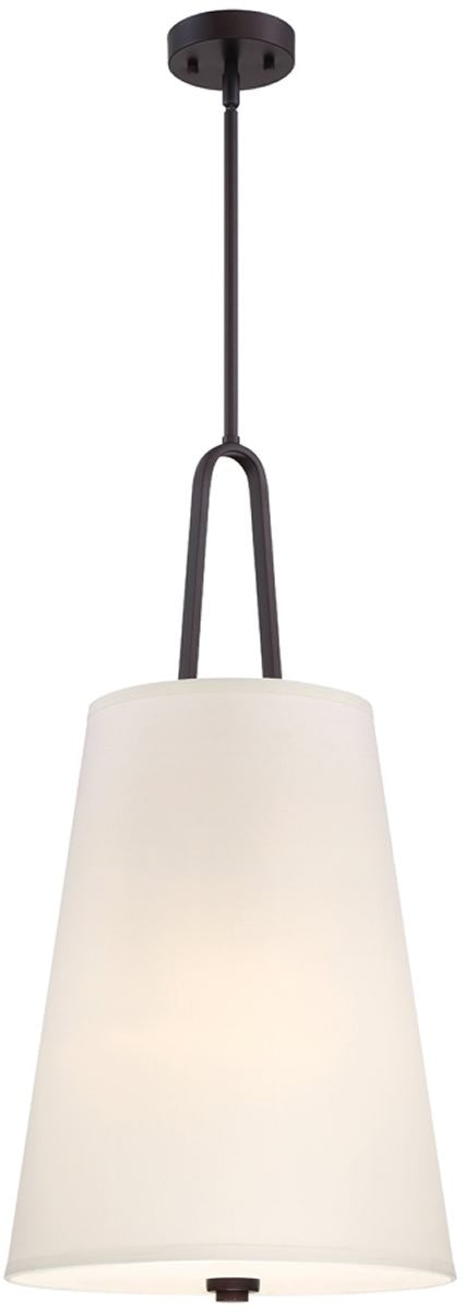 "21""W Studio 3-Light Chandelier Satin Bronze"