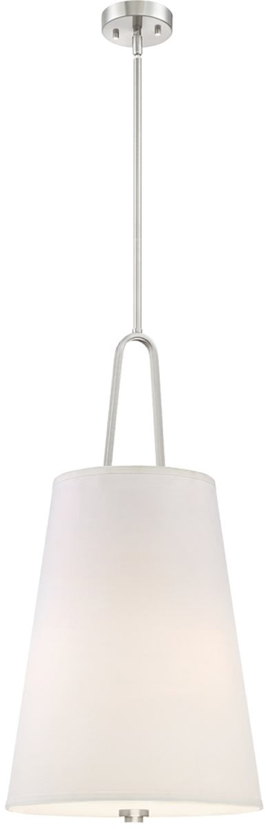 "15""W Studio 3-Light Pendant Satin Platinum"