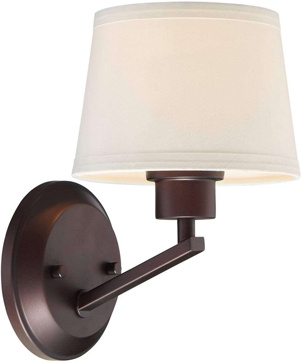 "7""W Studio 1-Light Wall Sconce Satin Bronze"