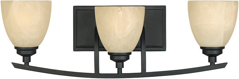 "24""w Tackwood 3-Light Vanity Burnished Bronze"