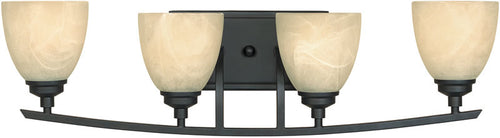 "29""w Tackwood 4-Light Vanity Burnished Bronze"