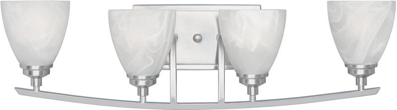 "29""W Tackwood 4-Light Vanity Satin Platinum"