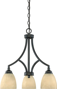 Designers Fountain Tackwood 3-Light Chandelier Burnished Bronze 82983BNB
