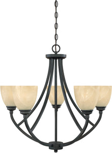 Designers Fountain Tackwood 5-Light Chandelier Burnished Bronze 82985BNB