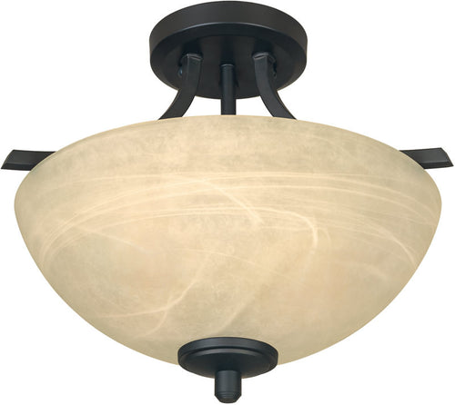Designers Fountain Tackwood 2-Light Semi-Flush Burnished Bronze 82911BNB