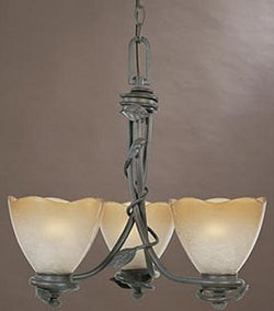 Designers Fountain Timberline 3-Light Chandelier Old Bronze 95683OB