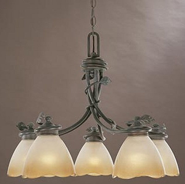 "23""w Timberline 5-Light Down Chandelier Old Bronze"