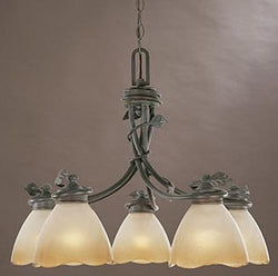Designers Fountain Timberline 5-Light Down Chandelier Old Bronze 95686OB