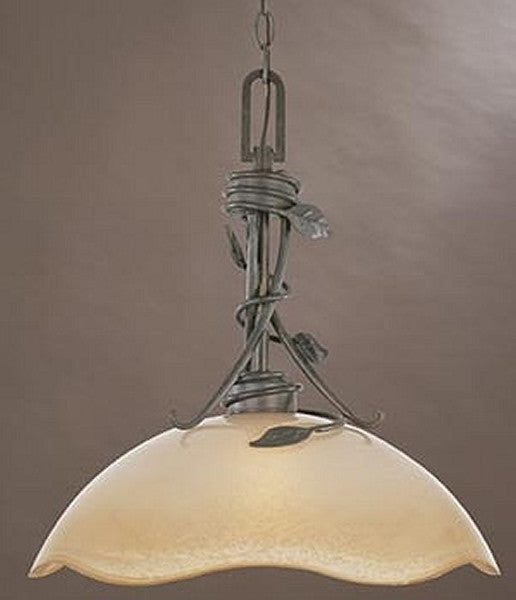 "16""w Timberline 1-Light Down Pendant Old Bronze"