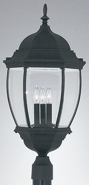 "28""h Tiverton Outdoor Post Lantern Black"