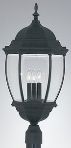 Designers Fountain Tiverton Outdoor Post Lantern Black 2446BK