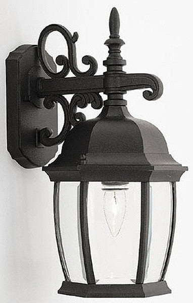 "16""h Tiverton Outdoor Wall Lantern Black"