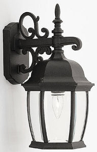 Designers Fountain Tiverton Outdoor Wall Lantern Black 2421BK