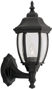 Tiverton 1-Light Wall Sconce Black