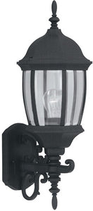 Designers Fountain 8 inchw Tiverton 1-Light Wall Lantern Black 2422BK
