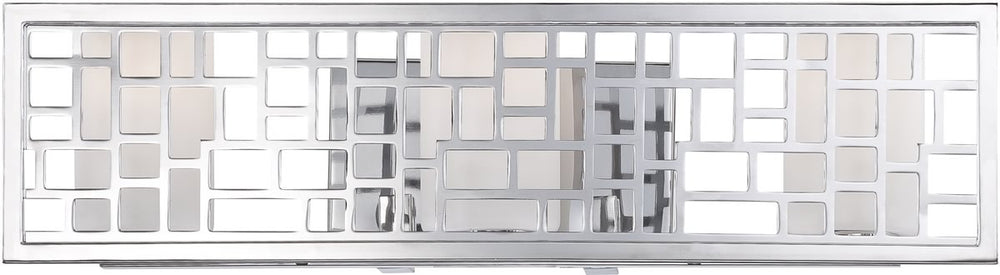 "22""w Trellis 3-Light Bath Vanity Chrome"