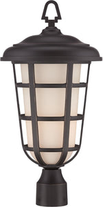 "20""w Triton 1-Light Post Lantern Aged Bronze Patina"
