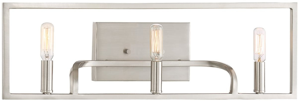 "24""W Uptown 3-Light Bath Vanity Satin Platinum"