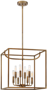 Designers Fountain Uptown 8-Light Chandelier Old Satin Brass 88458-OSB
