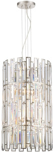 Designers Fountain West 65th 6-Light Chandelier Satin Platinum 88256-SP