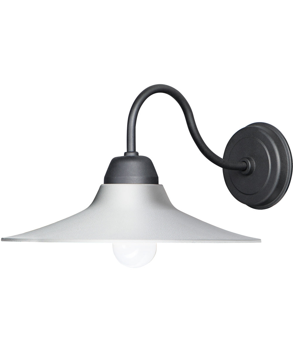 "9""H Dockside 1-Light Outdoor Wall Sconce White / Black"